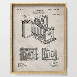 Folding Camera Patent - Photography Art - Antique Serving Tray