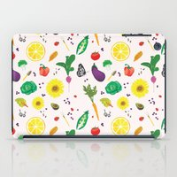 vegetables iPad Cases featuring Delicious Vegetables by Viola Brun Designs