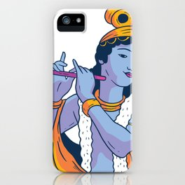 Krishna Floete iPhone Case