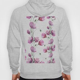 Poppy watercolor Hoody