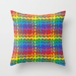 Colorful Ripples Throw Pillow