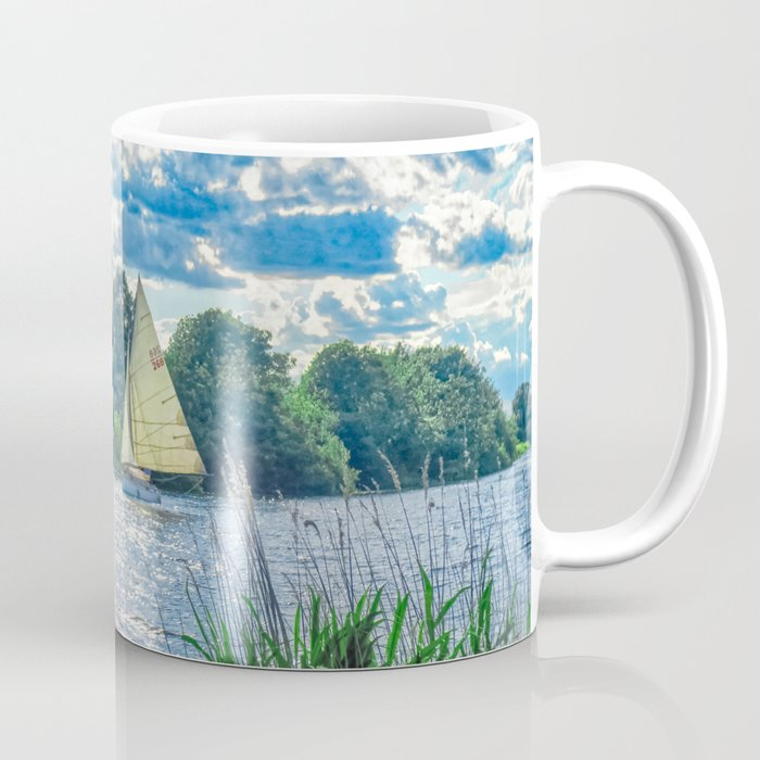 Sailing The River Coffee Mug