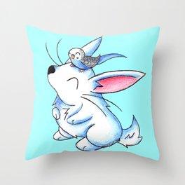 Budgie Buddy Throw Pillow