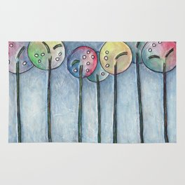 Lollipop Trees 1 Blue Series Rug