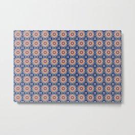 Classic Persian Motif Tile Ethnic Pattern Metal Print
