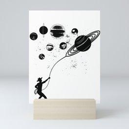 Cowboy Catches Planets Mini Art Print