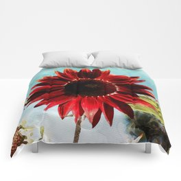 Red Sunflower Comforters