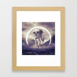 aegis II   wolf Framed Art Print