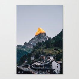 Beautiful Matterhorn in Sunrise Canvas Print