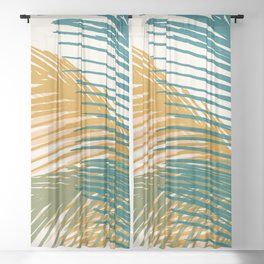 Golden Hour Palms Sheer Curtain