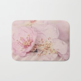 Romantic Soft Pink Peach Blossom Bath Mat