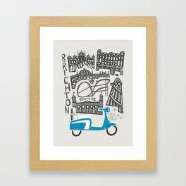 Brighton Cityscape Framed Art Print