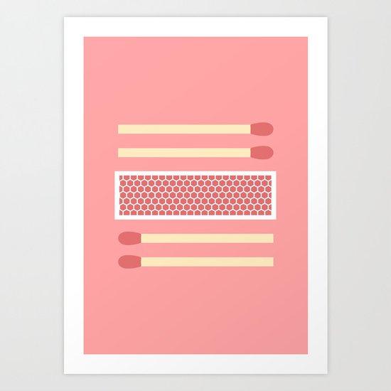 #75 Matches Art Print
