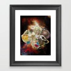 Mother Loving Galaxy Framed Art Print