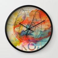 koala Wall Clocks featuring Koala by Alvaro Tapia Hidalgo