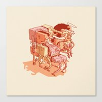 party Canvas Prints featuring party by Ben Bauchau