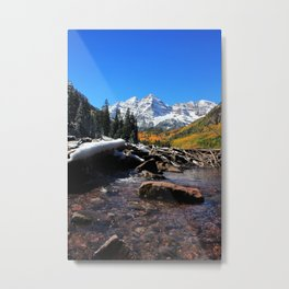 Maroon Bells in Aspen, Colorado Metal Print