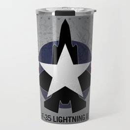F35 Fighter Jet Airplane - F-35 Lightning II Travel Mug