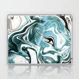 Liquid Teal Marble Laptop & iPad Skin