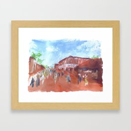 Panting of my favourite place Framed Art Print