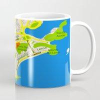 brasil Mugs featuring RIO map design - Brasil by Efratul