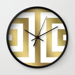 Gold Greek Stripes Wall Clock