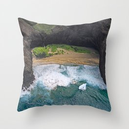 Hawaii's Most Romantic Beach Throw Pillow