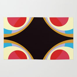 Colorful Retro Shapes Rug