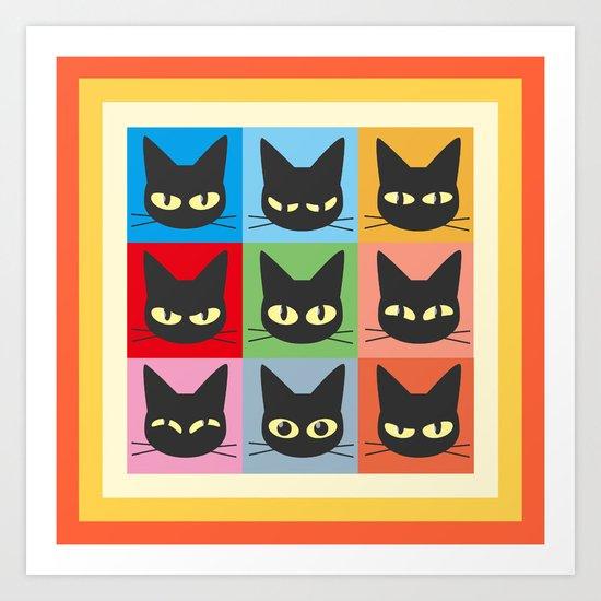 Nine emotions Art Print