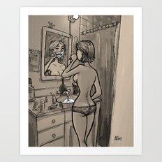 She Leaves the Water Running Art Print