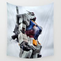 pride Wall Tapestries featuring Gundam Pride by Julie Maxwell