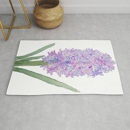 purple pink hyacinth watercolor Rug