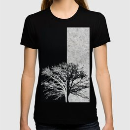 Natural Outlines - Oak Tree Black & Concrete #402 T-shirt