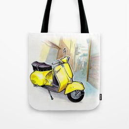 Giallo Vespa (Motocicletalia) Tote Bag
