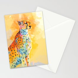Wild Grace - Cheetah digital painting Stationery Cards