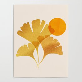 Abstraction_SUN_Ginkgo_Minimalism_001 Poster