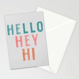 Hello,Hey,Hi Stationery Cards