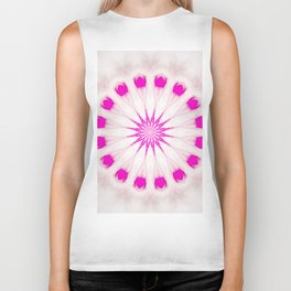 Bright Pink Simple Mandala Biker Tank
