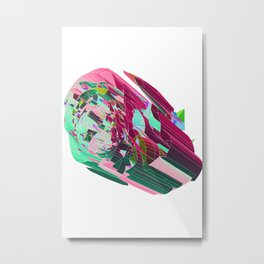 Imagined Space Station of Rosy Thoughts (Explosion Pretty series) Metal Print