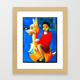 I Traveled Here On A Kangeroo Framed Art Print
