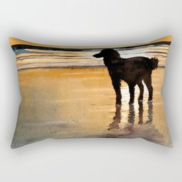Louie On the Beach Rectangular Pillow