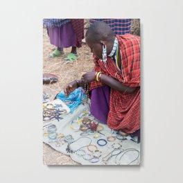 Maasai III Metal Print