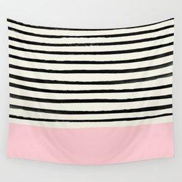 Millennial Pink x Stripes Wall Tapestry