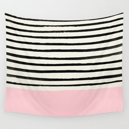 Millennial Pink x Stripes Wall Tapestry