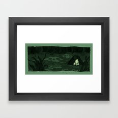 The Moon Bog Framed Art Print