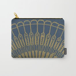 Fan, gold on navy Carry-All Pouch