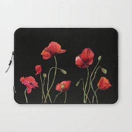Poppies at Midnight Laptop Sleeve
