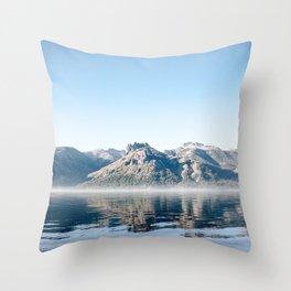 beach in lake meliquina Throw Pillow