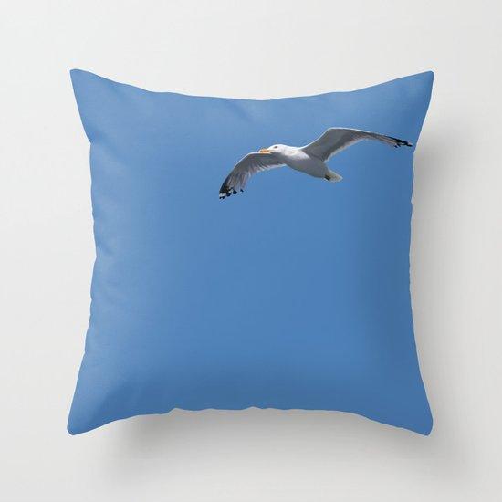 Blue Series #001 ~ Summer (wordless) Throw Pillow