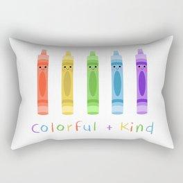 Colorful and Kind Crayons Rectangular Pillow
